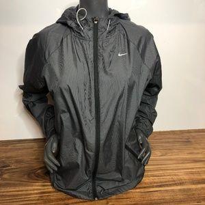 EUC Nike Women's Running Jacket Dark Grey Medium